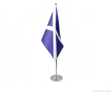 SCOTLAND ST ANDREW - DELUXE SATIN TABLE FLAG